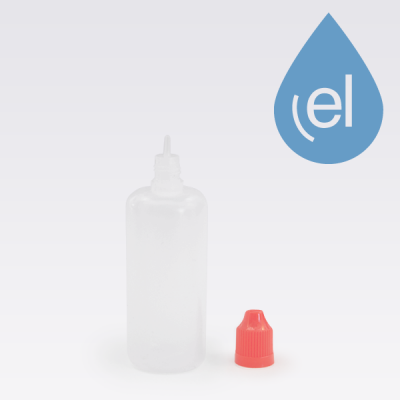 100ml LDPE Bottle red cap