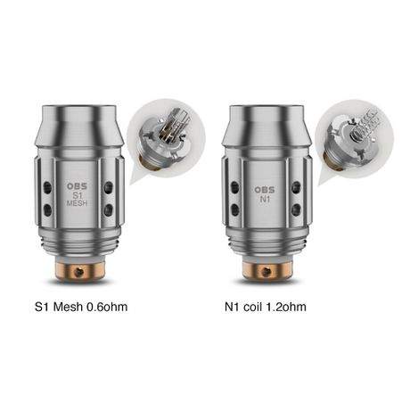 OBS KFB 2 Coils S1 Mesh - 5 Pack [0.6ohm]