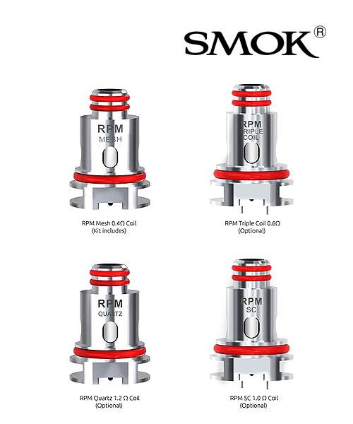 SMOK RPM40 Coils - 5 Pack [1.0ohm SC]